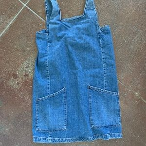 Top Shop mini denim dress!